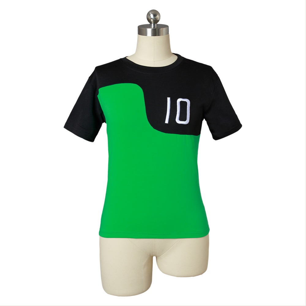 Ben 10 Costume Reboot Green Tee T-Shirt For Summer t shirt Green T shirt Tops Ten Ben10: Race Again Cosplay