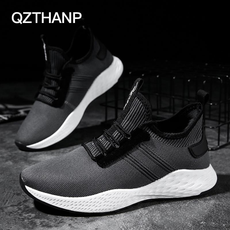New Hot Selling Male Shoes Adult Casual Flexible Designer sneakers Trainers Brand Shoes Confortable Lightweight Grey shoes