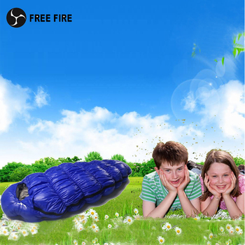 Children Sleeping Bag,Outdoor Camping Sleeping Bag kids,Duck Down Kids Sleeping Bag Winter Children Gift Free Fire 120cm, 140cm