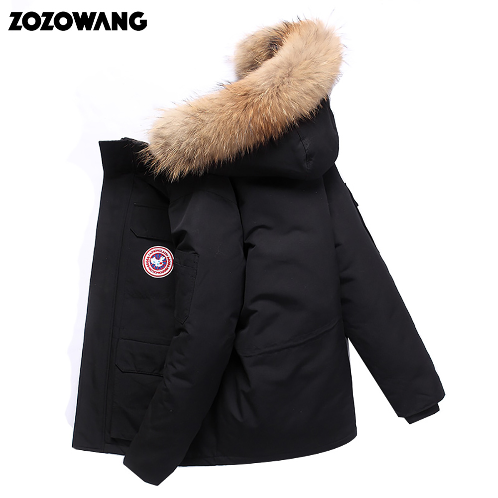 Image 4 - High Quality  40Celsius Down Jacket Keep Warm Men's Winter Thick Snow Parka Overcoat Camouflage White Black Duck 2019New Fashion-in Down Jackets from Men's Clothing