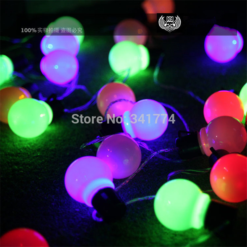 Luminaria 10m LED Ball string lights Curtain Big Size garland lamp for fairy wedding new year Outdoor Christmas Holiday lighting