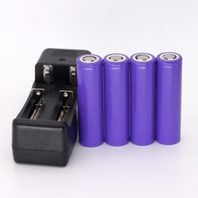 4PCS 3.7v LG MF2 2200mah rechargeable li-ion battery 10A for LG for E-cigarette + charger