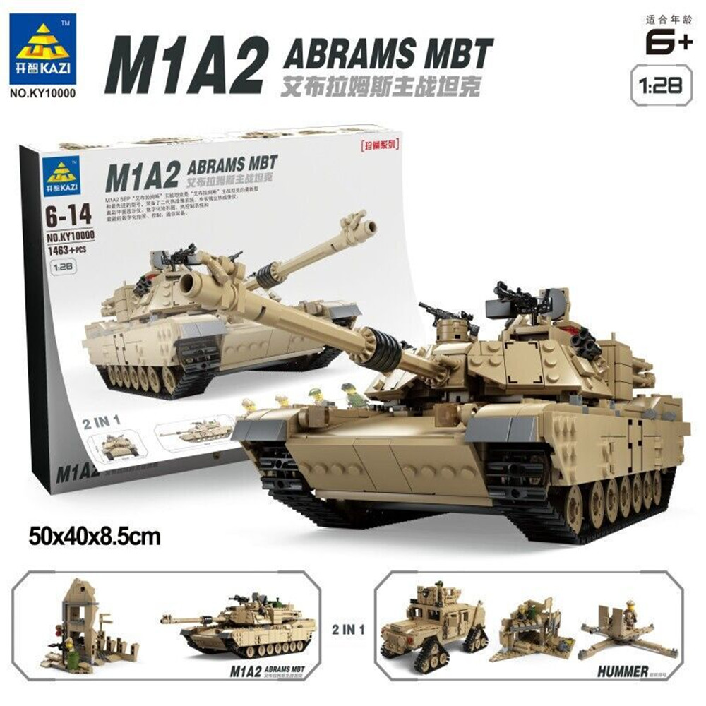 M1A2 Abrams Main Battle Tank Transform To Hummer US Army Building Blocks Building Blocks Toy Models