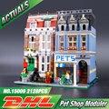 LEPIN 15009 Pet Shop Supermercado Modelo de Ciudad Calle Creador Compatible Bloques de Construcción 10218 Juguetes Para Los Niños