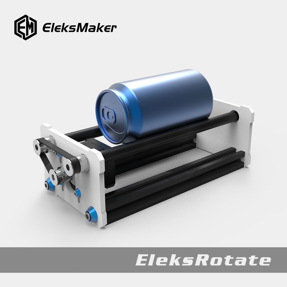 EleksMaker® EleksRotate Rotate Engraving Module A3 Laser Engraver Y Axis DIY Update Kit With Stepp For Column Cylinder Engraving