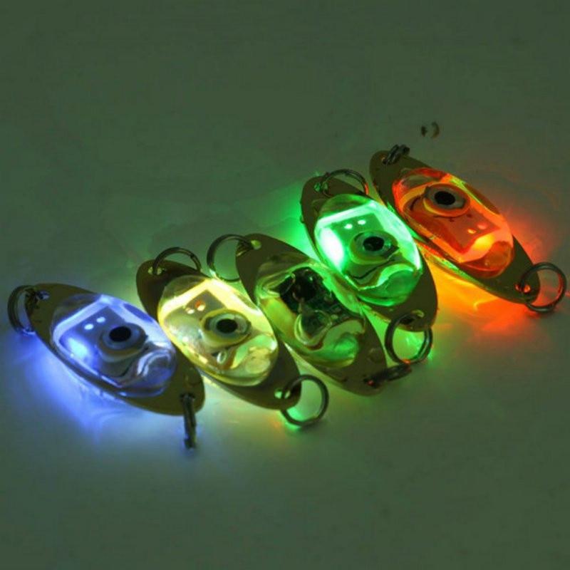 1 Pc Outdoor Vissen Licht 6 Cm/2.4 Inch Flash Lamp Led Deep Drop Onderwater Oogvorm Vissen Inktvis fish Lure Light