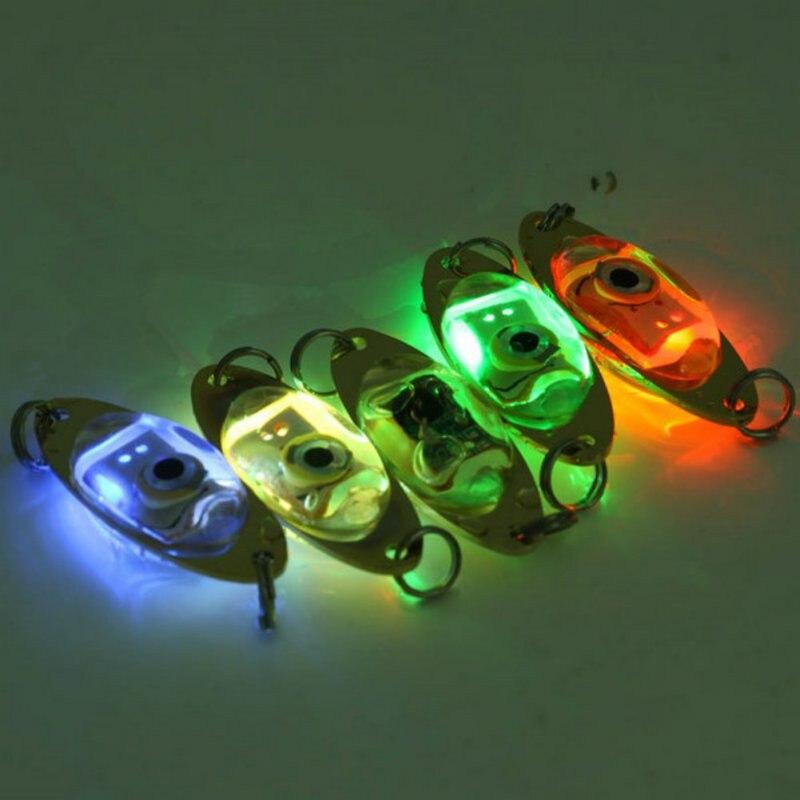 1pc zewnętrzna lampa wędkarska 6 cm/2.4 cala lampa błyskowa LED Deep Drop podwodny kształt oka Fishing Squid Fish światło przywabiające