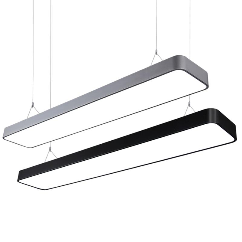 Commercial Led Office Lighting: Fillet Led Light Office Pendant Lights Long Strip Hanging