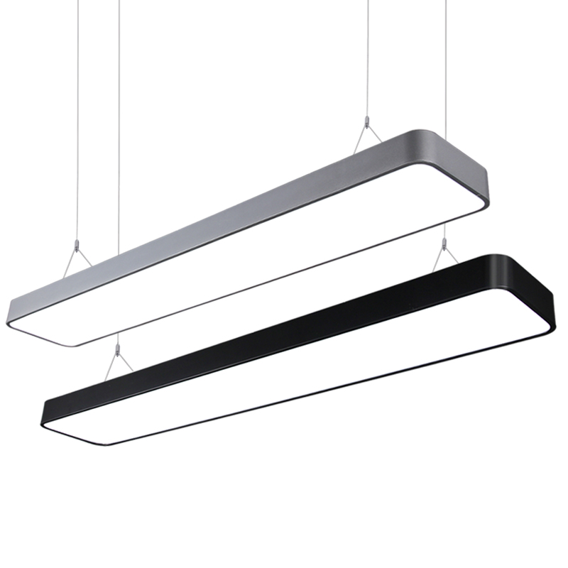 Fillet Led Light Office Pendant Lights Long Strip Hanging Lamp Clothing Shop Modern Commercial Lighting Engineering Luminaire