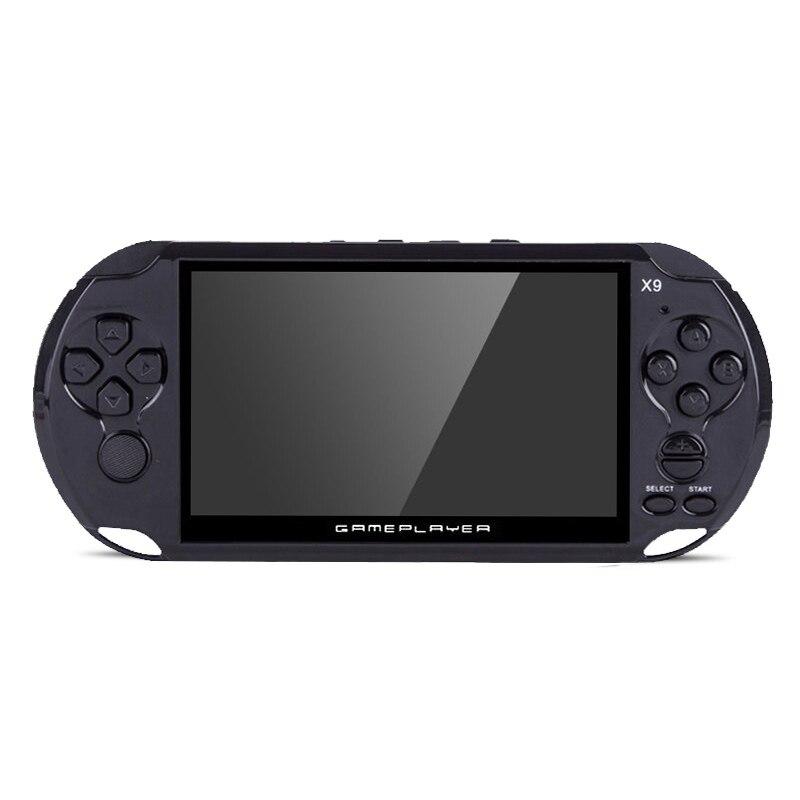 X9 Version 5 pouces écran 8G mémoire X9 nostalgie enfant couleur affichage portable Consoles de jeu lecteur de jeu