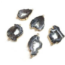 цены Natural Agates Pendants Charms Connector Pendants for Jewelry Making DIY Accessories Fit Necklaces Size 28x40mm-28x50mm
