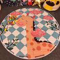 Circular de algodón juguete reciben bolsa de los niños juego de decoración Sala de alfombra manta de bebé muselina swaddle alfombrilla antideslizante