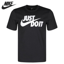 Original New Arrival NIKE AS M NSW TEE JUST DO IT SWOOSH Men's T-shirts short sl