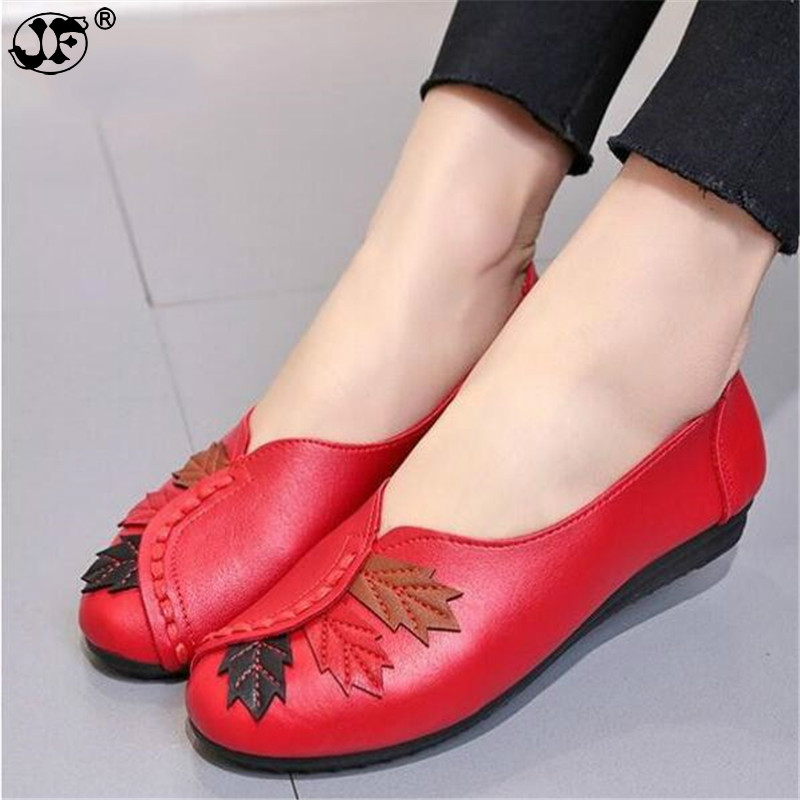 2018 Soft Women Shoes Flats Moccasins Slip on Loafers Genuine Leather Ballet Shoes Fashion Casual Ladies Shoes Footwear 855 women s shoes hosteven pu leather loafers comfortable shoes women flats moccasins solid ladies casual shoe ballet footwear
