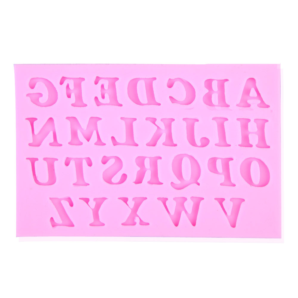 Pink Color 3pcs English Letters and Numbers Fondant Cake/Cookies ...