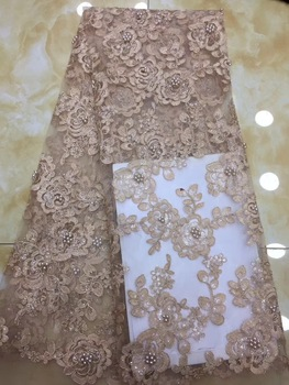 Latest Net French Lace Material High Quality French Net African Lace Fabric With Stone Nigerian Wedding African Lace DP28