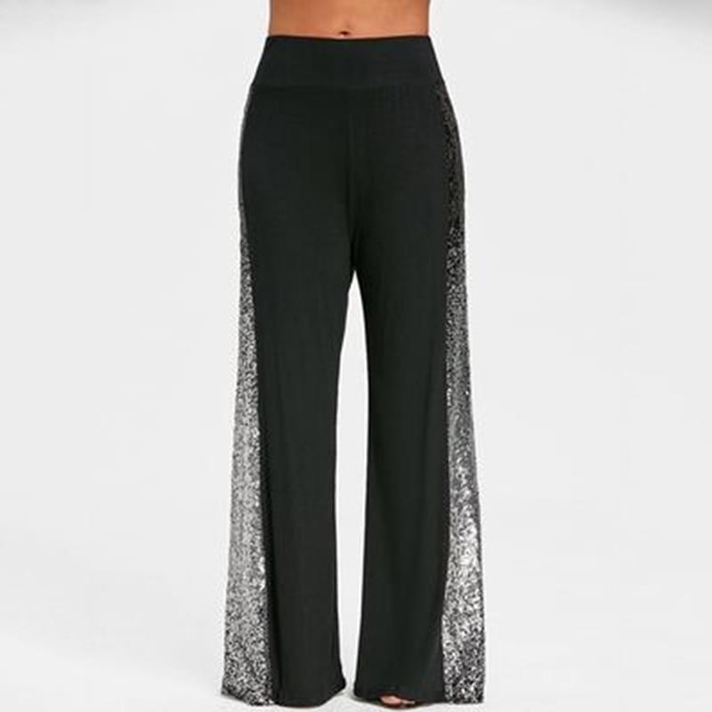 2019 Summer   Capris   Palazzo   Pants   For Women Heigh Quality Hot Sale Wide Leg   Pants   High Waist Trousers Women Big Size Pantalon