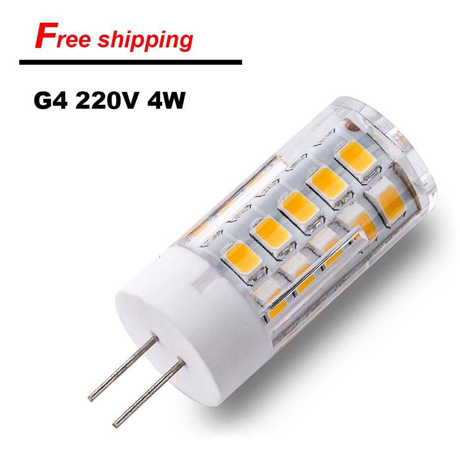 2017 On Sale G4 font b LED b font Lamp 220V SMD2835 4W 5W 7W Ceramic