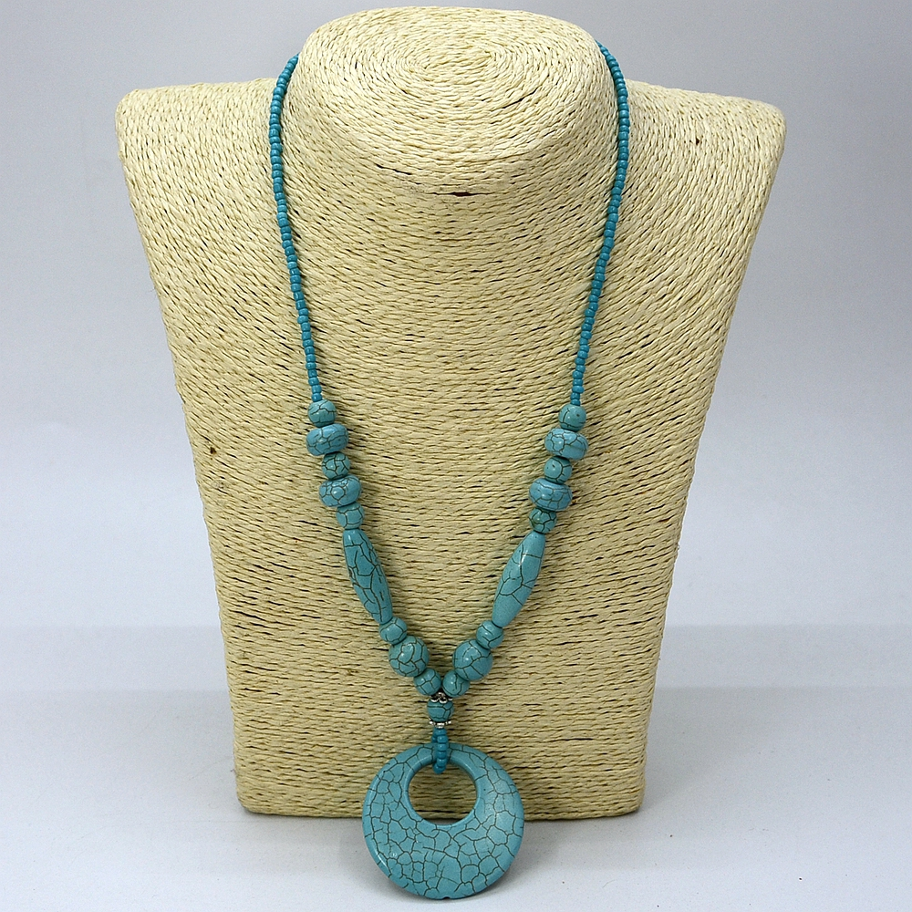 Hot !! 2016 Spring summer holiday fashion jewelry! Handmade blue natural semi-precious stone necklace women gifts image