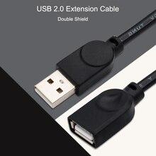 USB кабель-удлинитель, Супер Скоростной USB 2,0 кабель для мужчин и женщин, 1,5 м, кабель-удлинитель для синхронизации данных USB 2,0