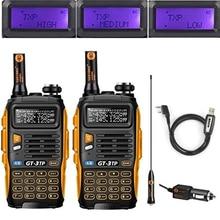 2 PCS Baofeng GT-3TP MarkIII TP 1/4/8Watt High Power Dual Band 2M/70cm Ham Two Way Radio Walkie Talkie with Programming Cable