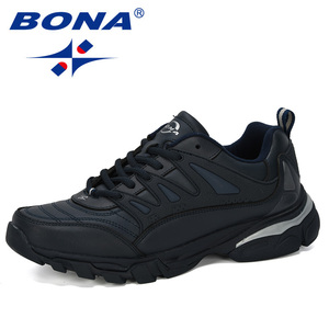 Image 2 - BONA 2019 חדש מעצב גברים נעלי ריצה פרה פיצול Krasovki תחרה עד החלקה ספורט נעלי גברים נעלי ספורט גברים zapatillas Hombre נעל