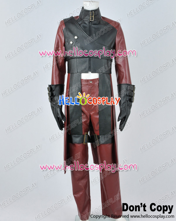 Devil May Cry DMC 2 Cosplay Dante Red Leather Uniform Costume H008