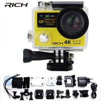 wholesale Free DHL Shipping Action camera H3R H3 Ultra HD 4K 1080P 170D Wide Angle Dual Screen Sports Camera