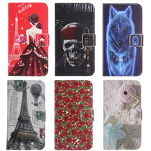 TienJueShi Cartoon Design Protect Leather Cover Phone Case For Panasonic Eluga I9 Pulse X Ray 500 Shell Wallet Etui Skin(China)