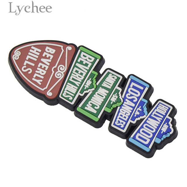 Lychee Life Hollywood Funny Rubber Fridge Magnet Creative 3D Refrigerator Magnet Tourist Souvenirs Home Decoration 5