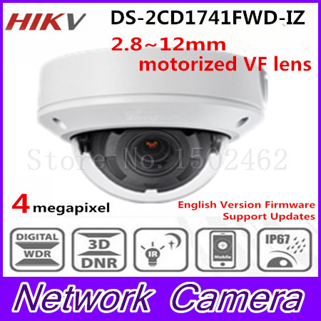 Free shipping New DS-2CD1741FWD-IZ replace DS-2CD2745F-IZS Vari-focal 4MP dome Network IP Camera free shipping in stock new ds 2cd1731fwd iz replace ds 2cd2735f izs vari focal 3mp dome network ip camera