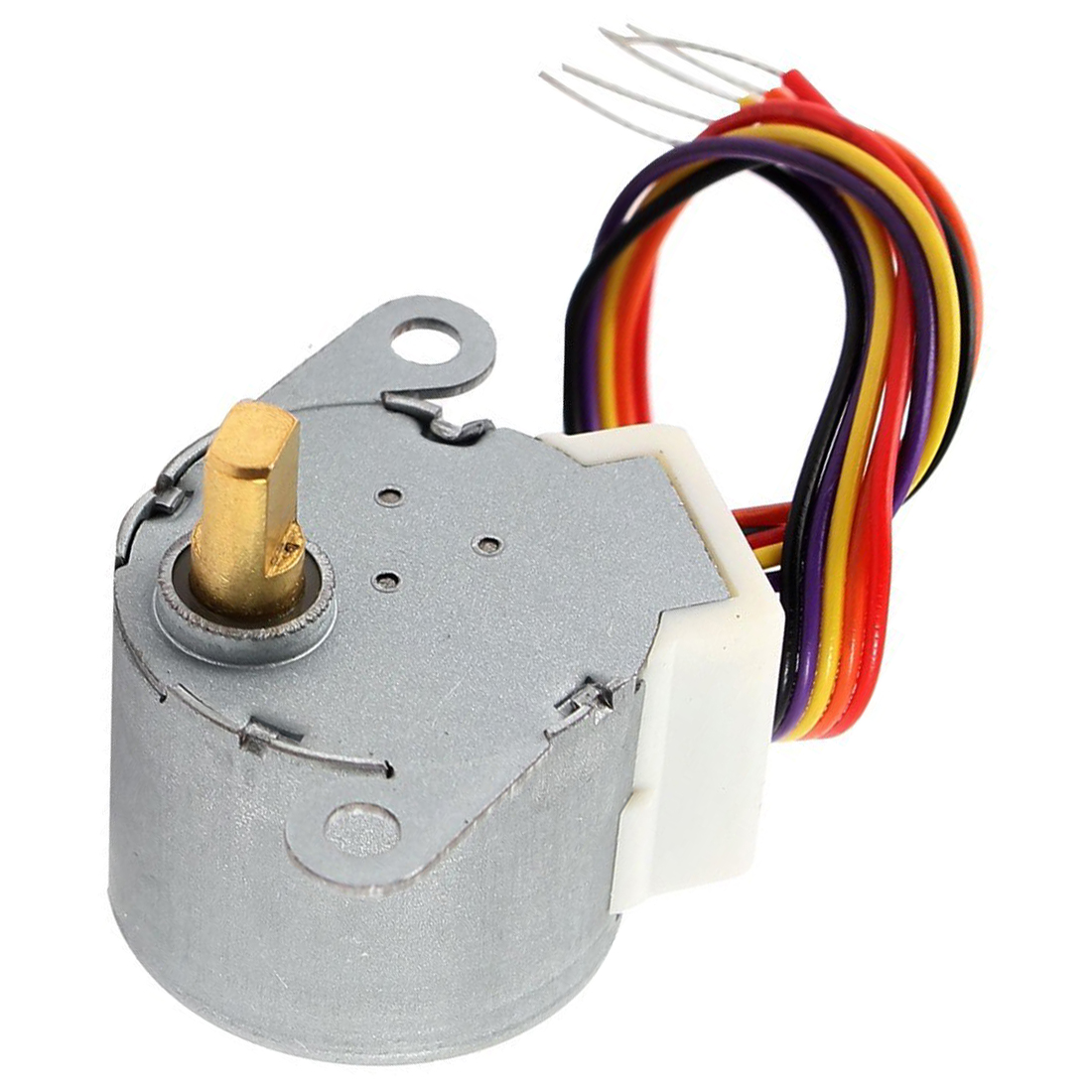 WSFS Hot <font><b>DC</b></font> <font><b>12V</b></font> CNC Reducing Stepping Stepper Motor 0.6A 10oz.in <font><b>24BYJ48</b></font> Silver image
