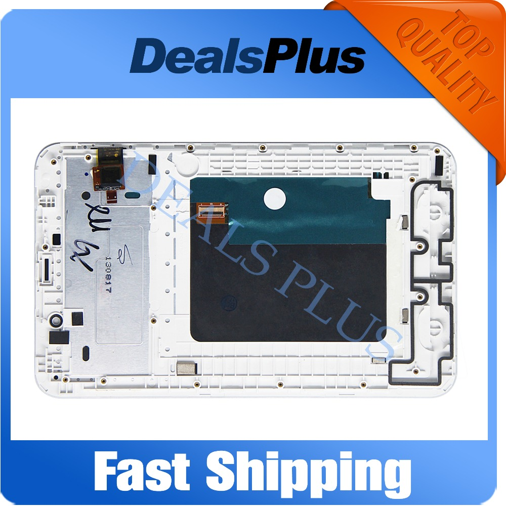 Replacement New LCD Display Touch Screen with Frame Assembly For Lenovo IdeaTab A3000 7-inch White Black Free Shipping