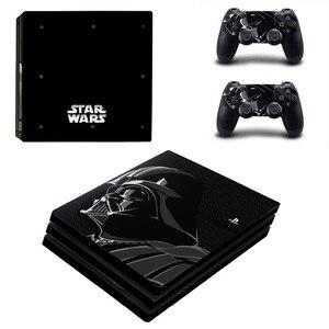 Звездные войны Дарт Вейдер PS4 Pro стикер кожи для консоли Sony PlayStation 4 и 2 контроллера PS4 Pro наклейки кожи виниловая наклейка