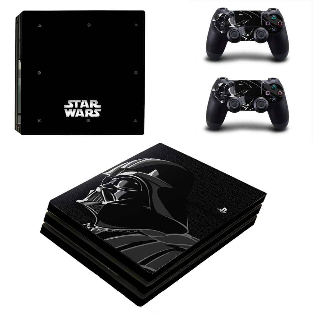 Star Wars Darth Vader PS4 Pro Skin Sticker For Sony PlayStation 4 Console and 2 Controllers PS4 Pro Skin Stickers Decal Vinyl