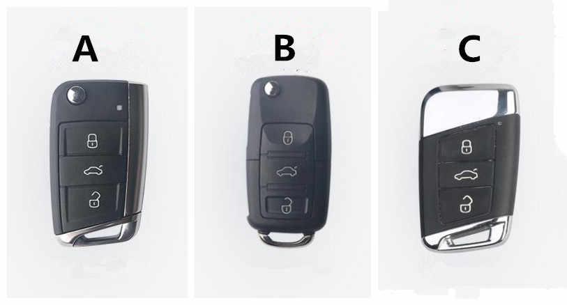 Funda de fibra de carbono para llave de coche funda para Volkswagen VW Golf 7 MK7 Tiguan Touran 2017 para Skoda Octavia A7 RS para asiento de León