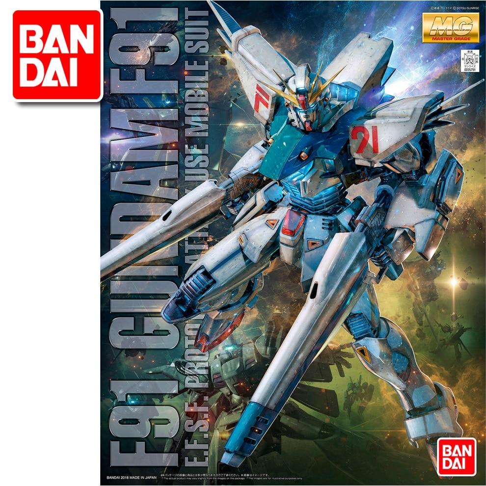 Japaness Original Gundam MG 1/100 Model  F91 Gundam Mobile Suit Kids Toys With Holder