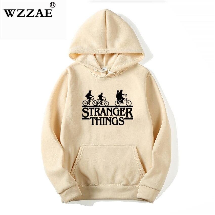 Trendy Faces Stranger Things Hooded Hoodies and Sweatshirts 20