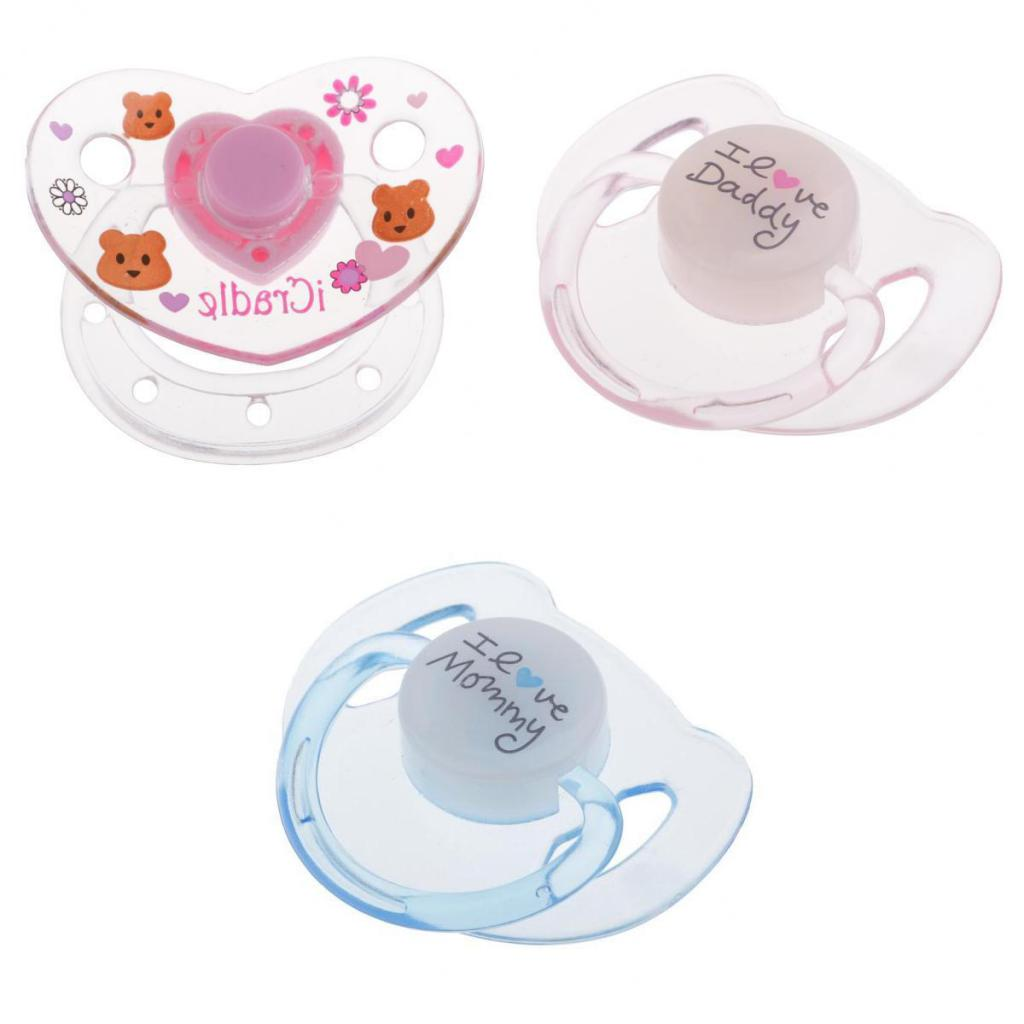 Lovely Cartoon Pacifier Magnet Set Baby Doll Supplies For Reborn Newborn Doll 3 Pieces Mixed Style