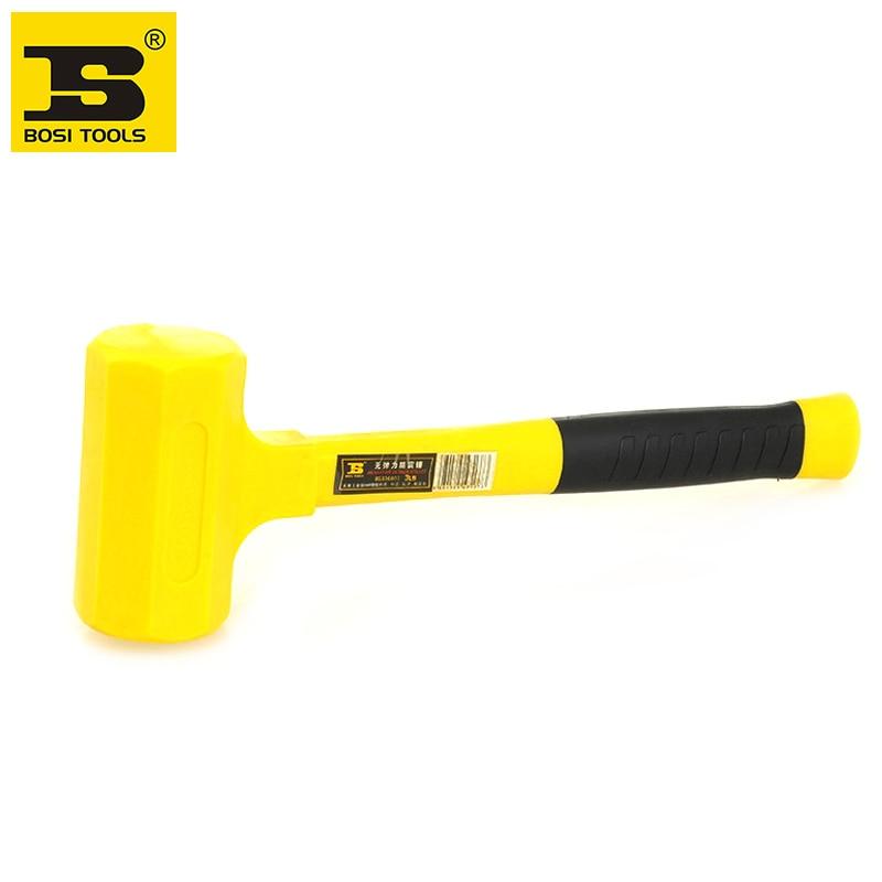 free shipping BOSI dead blow rubber mallet hammer 1lb цена