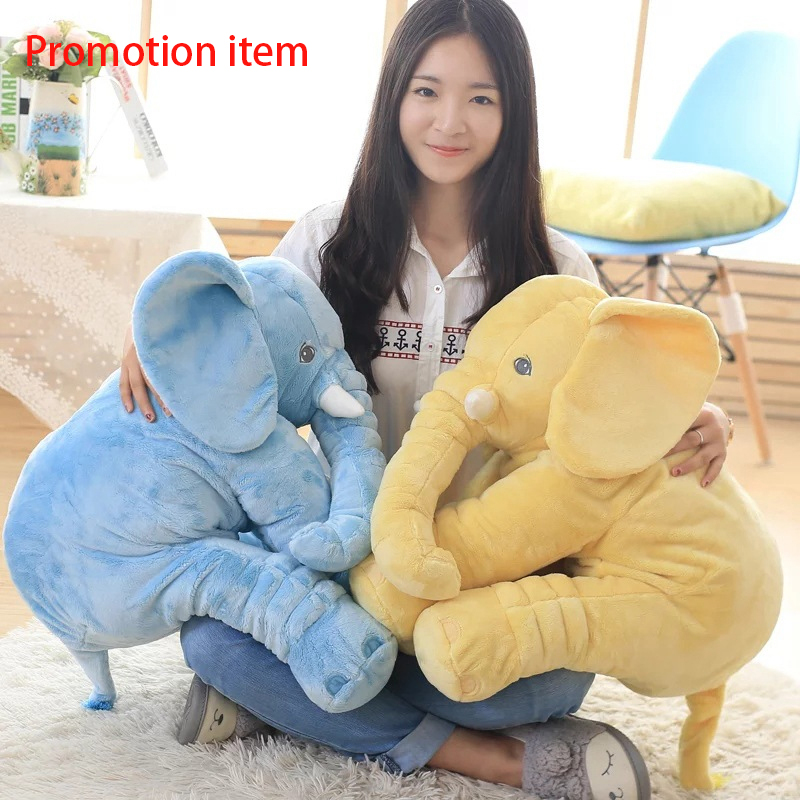 40/60cm Appease Elephant Pillow Soft Sleeping Stuffed Animals Plush Toys Baby Playmate For Children Birthday Gift