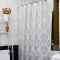 Европа Белый PEVA Шторы Для Ванн Цветок Экологичный Водонепроницаемый Занавески Для Душа Ванная Комната Продукта Кортина Ducha Высокое Качество