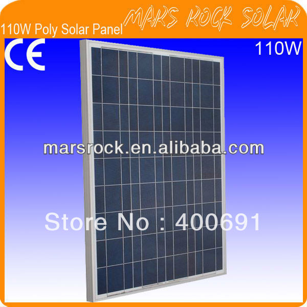 110W 18V Polycrystalline Silicon Solar Panel Module with CE, IEC, TUV, ISO, UL, RoHS Approval Standard