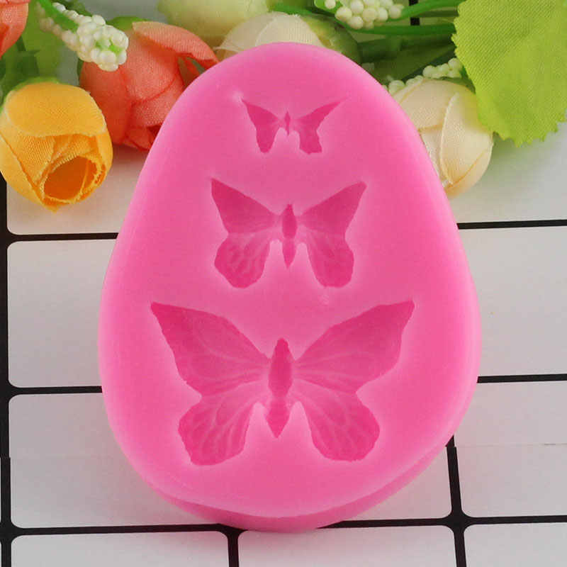 Mujiang 3D Butterfly Silicone Molds Candy Chocolate Fimo Clay Mold DIY Sugar Craft Cupcake Baking Fondant Cake Decorating Tools