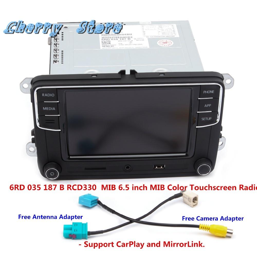 NEW 6RD 035 187 B RCD330 Plus CarPlay Car Radio MIB 6.5 Inch For VW Golf Jetta Passat B6 1GB RAM Rear View Camera Bluetooth USB