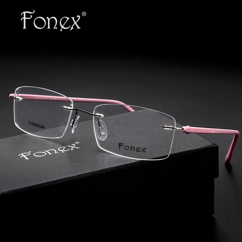 myopia rimless eye glasses for women brand designer memory eyeglasses optical frame tr90 eyewear ray with