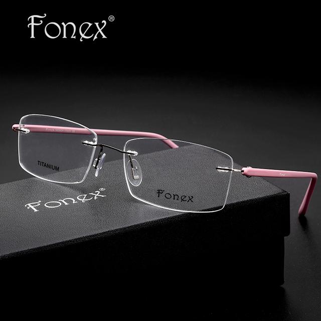 Sin Montura de la miopía anteojos para Las Mujeres Diseñador de la Marca Gafas de Memoria TR90 Marco Óptico silhouett rayos Gafas con caja de italiano
