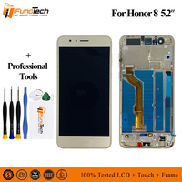 5.2 AAA LCD For HUAWEI Honor 8 LCD Touch Screen with Frame Digitizer Replacement For HUAWEI Honor 8 Display FRD L19 L09 L14 LCD