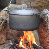 Кит титановая сковорода 2.5л кастрюля для кемпинга посуда для кемпинга походная травяющая Охота для пикника кухонная утварь 350 г Ti6018