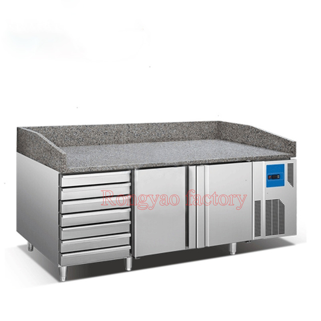 refrigerator table. vertical refrigerated cabinet with baking tray marble work bench various styles customized refrigerator table